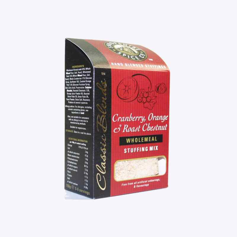 Shropshire Spice cranberry orange chestnut Stuffing mix 150g non organic