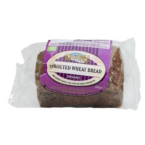 Everfresh Sprouted Wheat bread vegan, GF, yeast free 400g