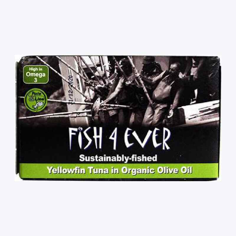Fish 4 Ever Yellowfin Tuna in Organic Olive Oil 120g