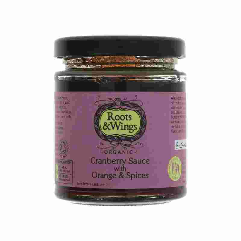 Roots & Wings Cranberry Sauce with Orange & Spices   200g
