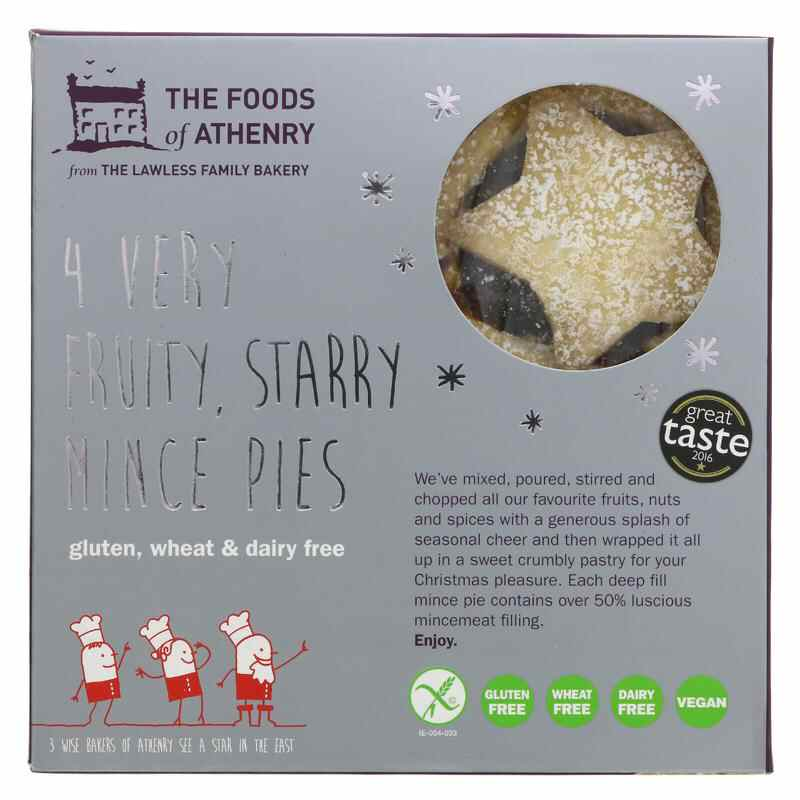 Foods Of Athenry Very Fruity Mince Pies - 280g  Gluten free & vegan