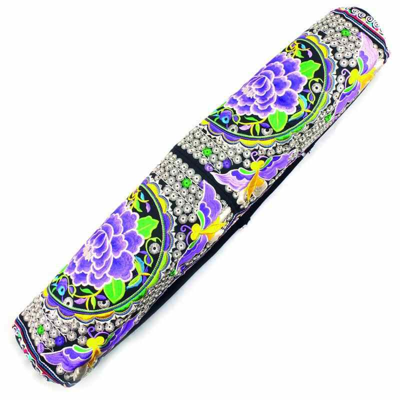 Siesta Crafts Thai Embroidered Yoga Mat Bag
