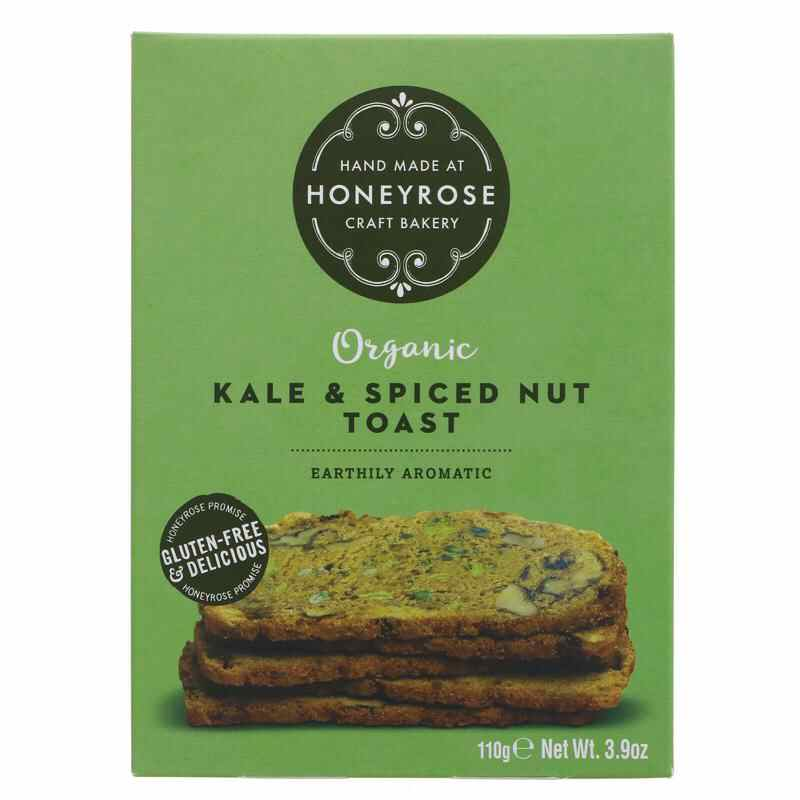 Honey Rose- Kale & Spiced Nut Toasts 110g