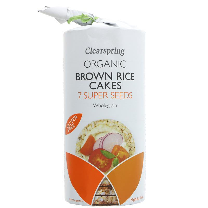 Clearspring Multi-seeded Brown Rice Cakes 120g