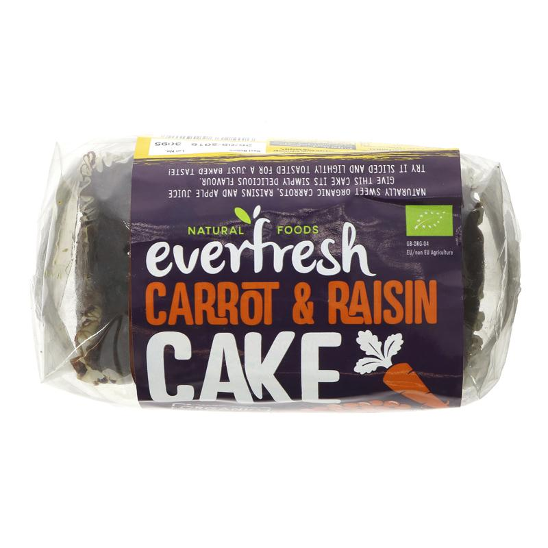 Everfresh Carrot raisin Cake 400g vegan sweetened with apple juice