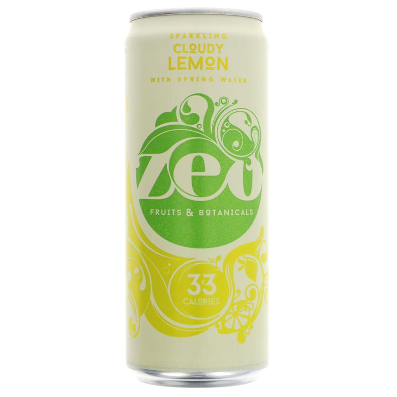 Zeo cloudy lemon (spring water, juice & stevia sweetened) 330ml