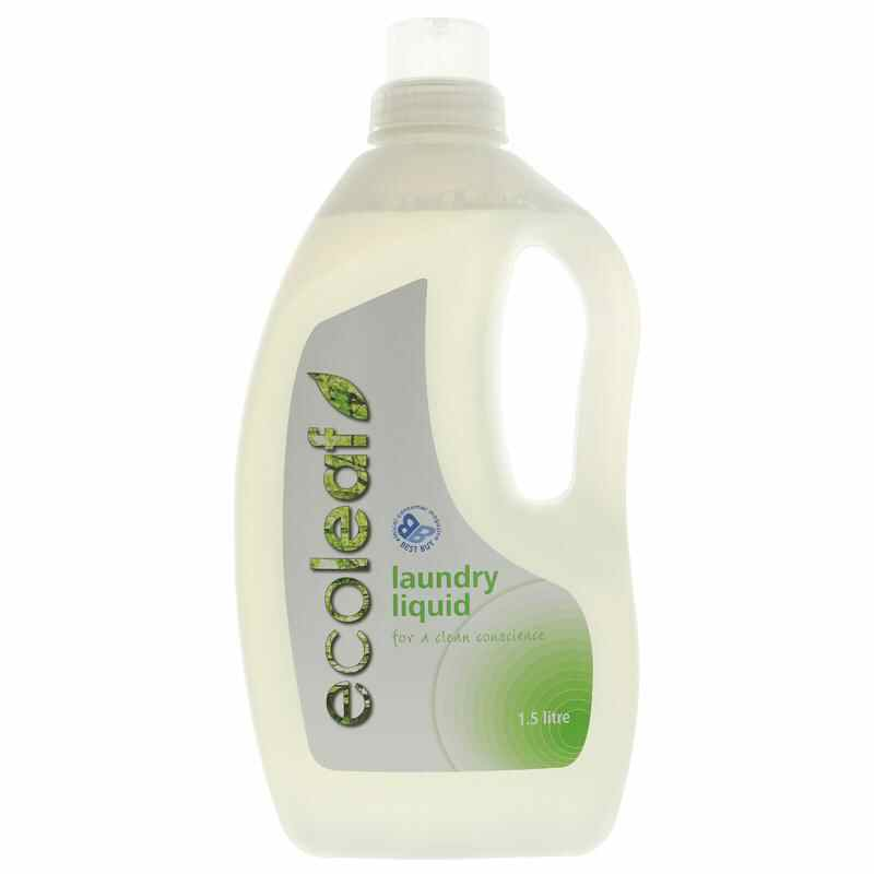 Ecoleaf Laundry Liquid 1.5L vegan/UK