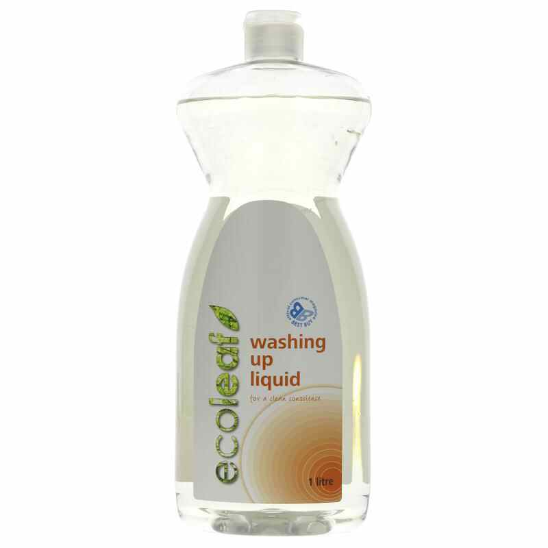 Ecoleaf Refill Washing-Up Liquid 1L  Vegan/UK