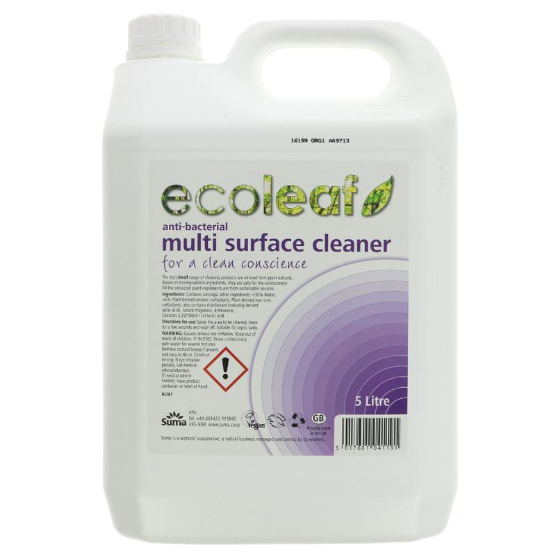 Ecoleaf Multisurface antibac cleaner 5L (refill your own spray gun)