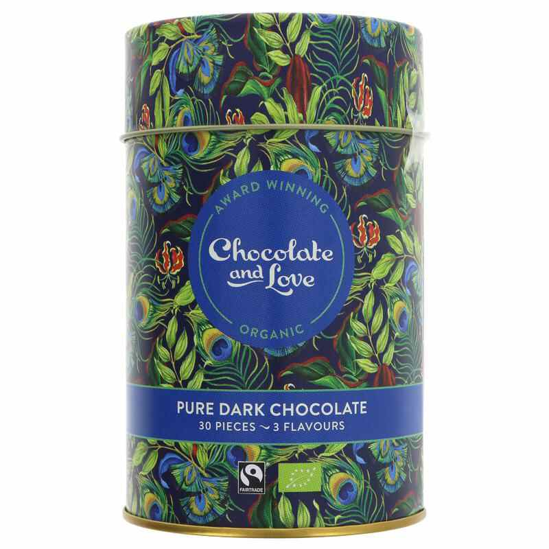Chocolate & Love Rich Dark Chocolate Gift Tin  30 chocolates V/G/FT