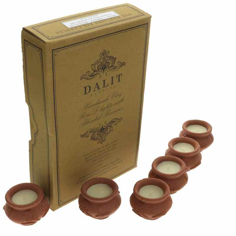 Dalit Mini Rose design Tea Light candle pots (6)