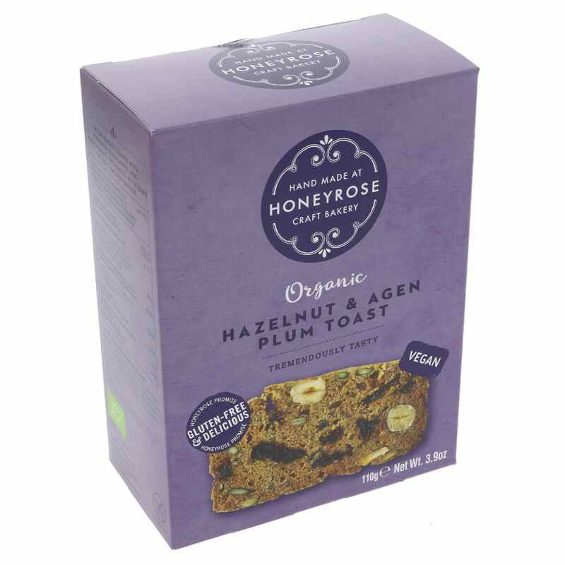 Honey Rose Hazelnut & Agen Plum Toasts 110g G/V