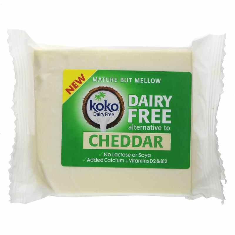 Koko Dairy Free Cheddar Cheese Alternative  200g