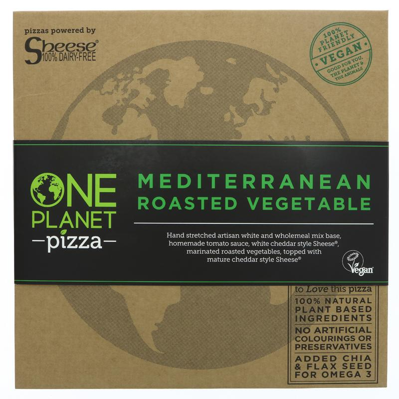 One Planet Pizza Mediterranean Vegetable Pizza VEGAN 486g