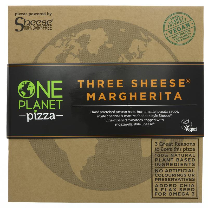 One Planet Pizza Three Sheese Pizza GLUTEN FREE VEGAN 430g