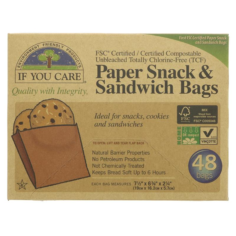 If you care sandwich bags 48 100% recycled