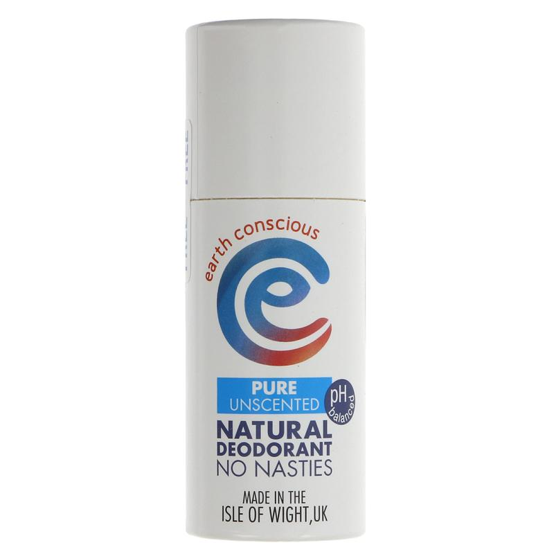 Earth Conscious Natural deodorant Unscented Plastic free Vegan