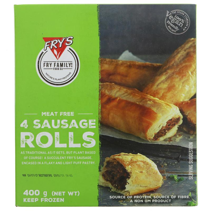 Fry's frozen sausage Rolls NO/V 400g