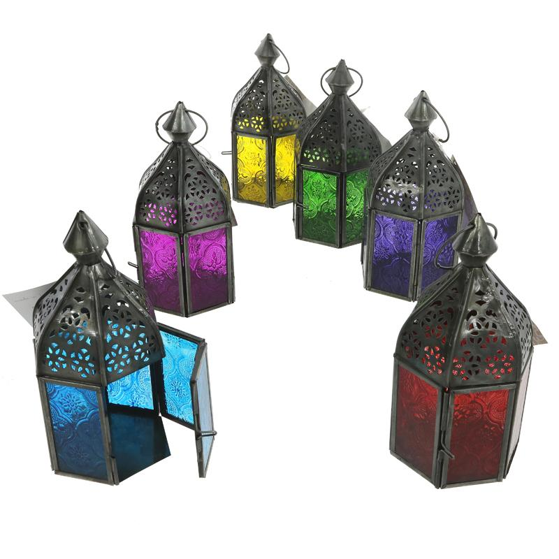 Namaste Moroccan style Glass Lantern - Vegan & Fair trade