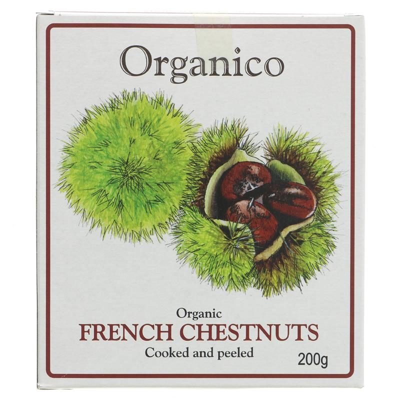 Organico French Chestnuts Vac Pac 200g