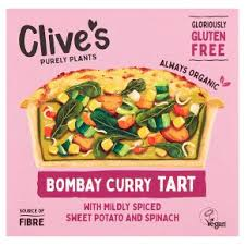 Clive\'s Bombay curry Tart 195g Vegan
