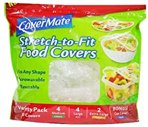 Covermate Stretch/fit Reusable food covers (8)