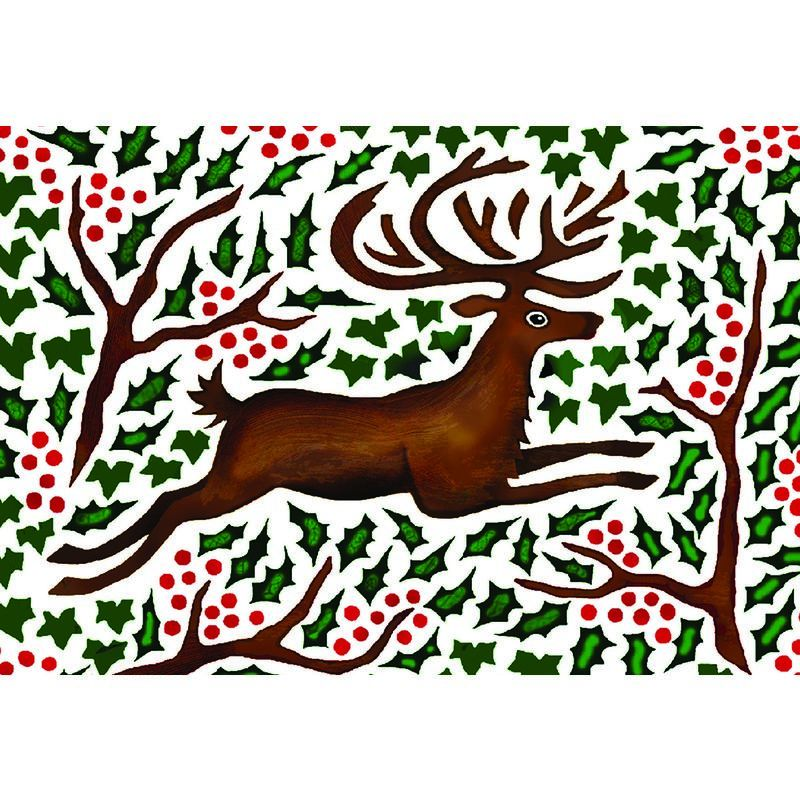 Amnesty Xmas Cards - Leaping Deer    10Pk