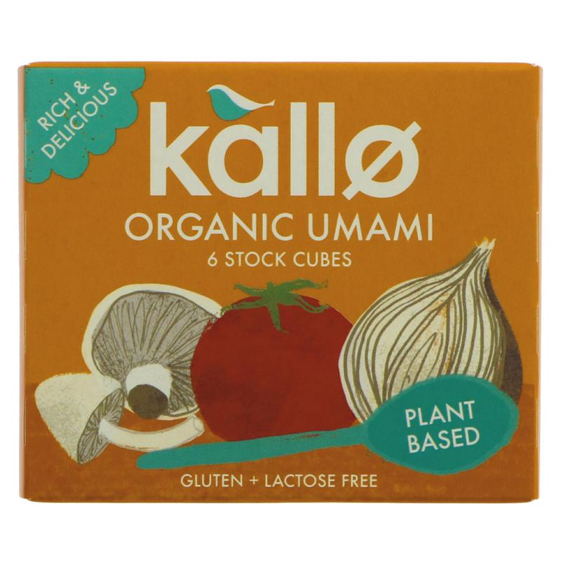 Kallo Umami Stock cubes vegan gluten freex 6