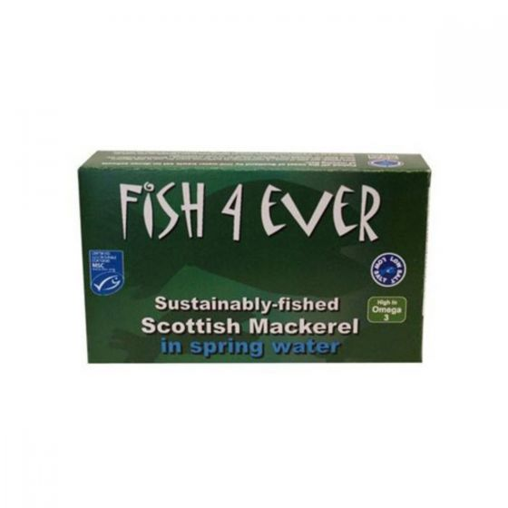 Fish 4 Ever Mackerel in Spring water 120g