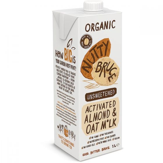 Nutty Bruce Activated Almond/oat milk 1L